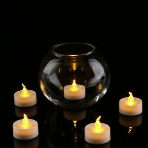 50pcs LED Tea Light Flameless Candles Battery Operated Tea Light Yellow Light