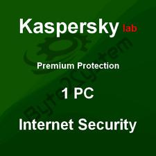 Kaspersky Internet Security 2018/1 PC/MD 1 Año - Nueva Licencia, no Preactivada