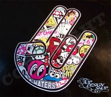 Shocker Hand Auto Aufkleber JDM Tuning OEM DUB illest Stickerbomb dapper Sticker