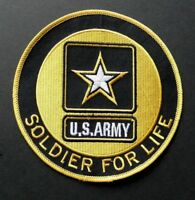 ARMY SOLDIER FOR LIFE EMBROIDERED JACKET PATCH 5 INCHES