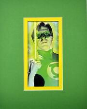 GREEN LANTERN / HAL JORDAN PRINT PROFESSIONALLY MATTED Ross art