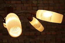 60er VINTAGE DECKENLAMPE Mid Century LEUCHTE LAMPE LAMP Kronleuchter TEAK Glas