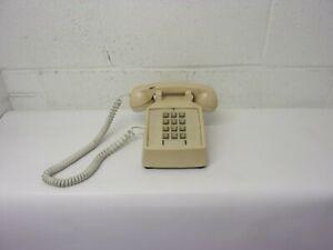 Vintage Western Electric Single Line Phone Model 2500 Beige