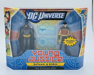 """DC Universe Young Justice Batman & Robin """"The Dynamic Duo"""" 2-Pack Mattel"""