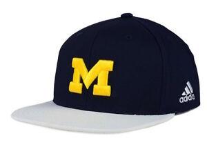 Adidas NCAA Michigan Wolverines Snapback Cap (Navy/White/Maize) Adjustable Hat