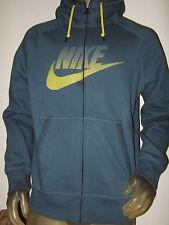 Nwt Men's Large Blue Nike AW77 Futura Swoosh Logo Graphic Zip Up Hoodie Sweater