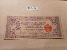 Philippines Emergency Currency Negros Occ Two Pesos Nice Crisp - # 136478