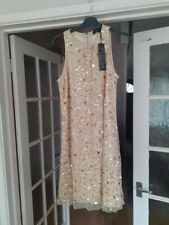 Dorothy Perkins Showcase  dress with sequin detail size 12 gold colour