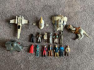 Star Wars Vintage Vehicle & Figure Lot Boba Fett X-wing Vader Luke 1977 Kenner