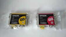 2 NEW Epson 88 Ink Cartridge TO883 TO884