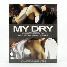 MYDRY underarm pads 20 pcs | white almohadillas protectoras anti sudor blancas