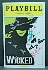 Wicked Cast Hand Signed Autographed Playbill