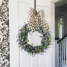 Artificial Door Hanging Lavender Flower Wreath Wall Garland Home Wedding Decor