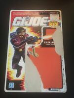 SAW-VIPER GI JOE HASBRO 1989 COBRA Enemy WoW, Card File Only, Uncut