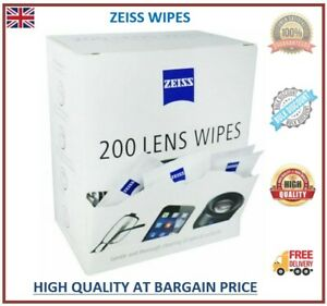 Zeiss Wipes Pre Moist Lens Glassess Individual Sachets Glass Cleaner 5-400 Wipes