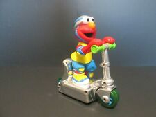 """2000 Mattel Sesame Street Elmo Scooter Toy With Press And Go Action 8"""" Height"""