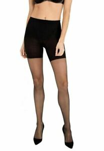 Spanx In-Power Line Sheers Firm Control Pantyhose, Very Black, Size B - NEW