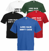 Long Hair Don't Care Unisex T Shirt Unisex Tee Top Hipster Funny Comedy S-XXL
