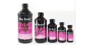 Mia Secret Liquid Monomer 1oz / 2oz / 4oz / 8oz / 16 oz  -CHOOSE SIZE