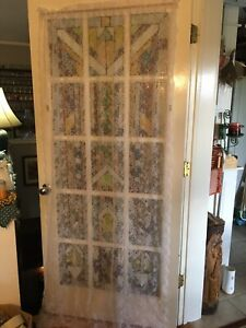 """Shabby Chic 1 LACE WINDOW PANEL CURTAIN FLORAL DESIGN 80""""L X39""""W"""