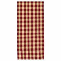 Primitive CHECK DISH Towel Barn Red Tan Kitchen Cotton Farmhouse Country Rustic