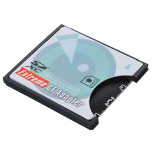 Cablecc  SD SDHC SDXC To CF Compact Flash Memory Card Adapter Reader