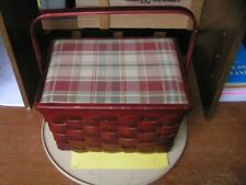 DECORATIVE PICNIC/DISPLAY BASKET W/ LID AND LINER - PRE-OWNED
