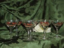 """Set 8 Vintage Cordial Wine Glasses Rooster Chicken Hand Painted Art Gold Trim 4"""""""