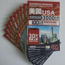 Us Usa United States Travel Sim Card 4G 30 Days of Unlimited Data 3000 min calls