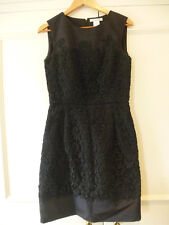 Oscar de la Renta black paisley dress Winter 2012 UK 8 WORN ONCE