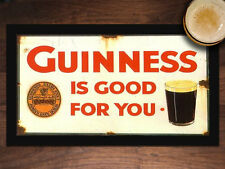 Guinness is Good for you VINTAGE LOOK BAR RULES BEER MAT BAR RUNNER Man Cave