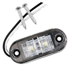 New 2 LED 12V / 24V Vehicles Truck Lorry Side Marker Turn Lamp Lights-White