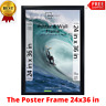 The Poster and Picture Frame 24x36, Ideal for Posters, Black, Styrene Front, NEW