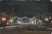 ABERDEEN , South Dakota , 1910 ; Main Street at night