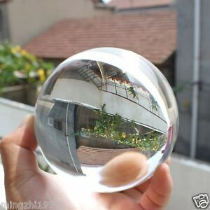 80mm+Stand  Asian Rare Natural Quartz Clear Magic Crystal Healing Ball Sphere