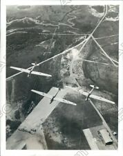 1942 US Marine Corps Training Gliders Flight Over Parris Island Depot Photo
