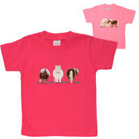 Girls Embroidered Pony T-Shirts Tee Shirt Super Soft Cotton Age 2-10 Years