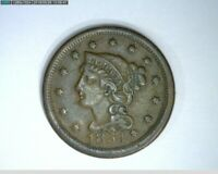 1854  Braided Hair Large Cent 1c   old penny   ( 35-300 M6 )
