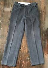Meyer Stretch Chino Casual Trousers W32 L30 Black Charcoal Mens