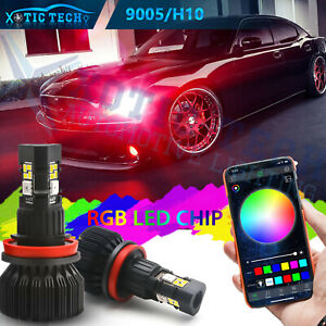 For Dodge Charger 06-19 Headlight High Beam APP Smart Control RGB Multi Color