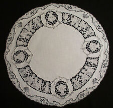 12 ANTIQUE FIGURAL ITALIAN PLACEMATS ROUND AND OVAL