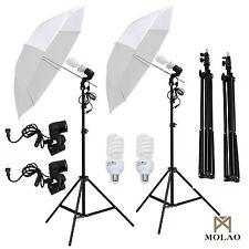 "2x 33"" White Umbrella Reflector Lamp Photography Stand Photo Studio Lighting Kit"