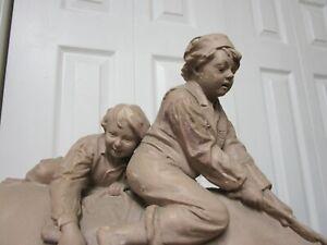 "John Rogers Group Statue Statuary ""We Boys"""