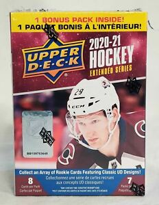 NEW Upper Deck NHL 2020-21 Extended Series Hockey Trading Card BLASTER Box UD
