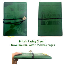 TRAVEL JOURNAL Racing Green Bucket List Holiday Travellers Notepad Book XBETJ003