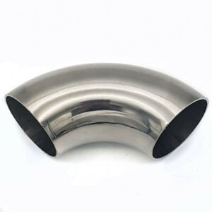 "2.25"" - 57mm SHORT LEG 90 degree Mandrel Bend Stainless Steel  Exhaust Elbow"