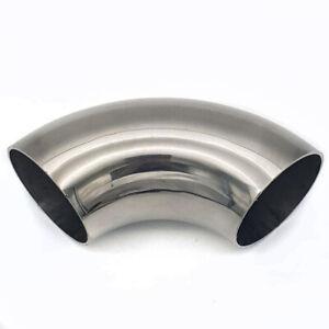 """3""""- 76mm SHORT LEG 90 degree Mandrel Bend Stainless Steel  Exhaust Elbow"""