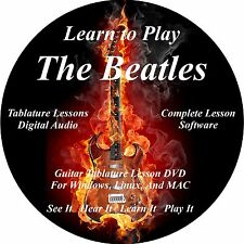 The Beatles Guitar TABS Lesson CD 268 Songs + 82 Backing Tracks + BONUS!