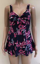 Bonmarche Navy Pink Floral Swimdress Size 12