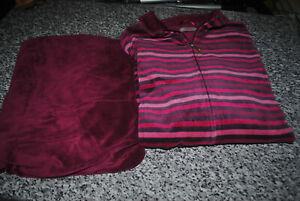 Triumph Jogginganzug Hausanzug Schlafanzug Hose Und Jacke Lila Flieder Gr. 50